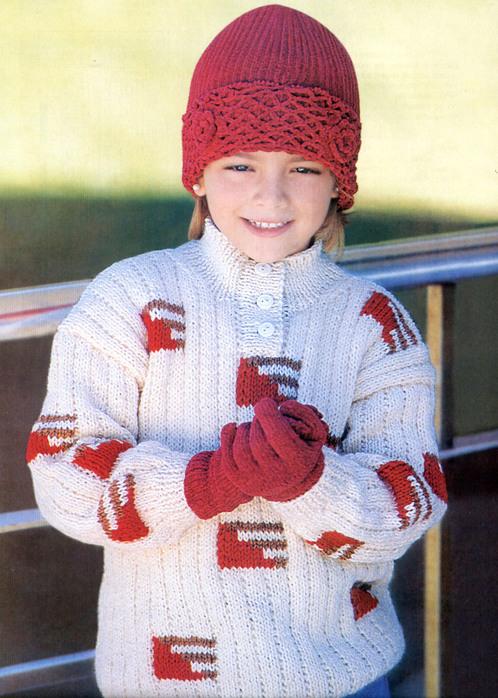Описание: вязание спицами для девочек 8-10 лет.