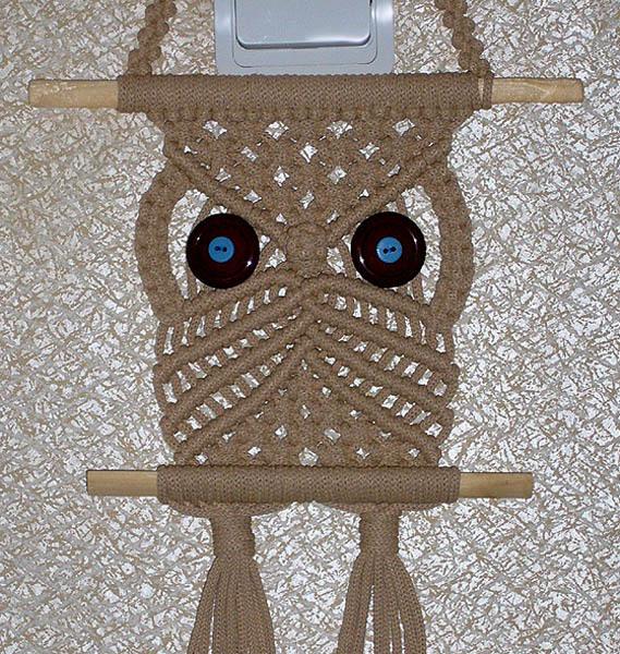 макраме сова схемы плетения