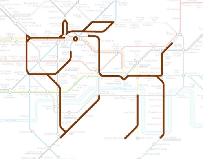 Художник Миддлвик обнаружил зверинец в лондонском метро.