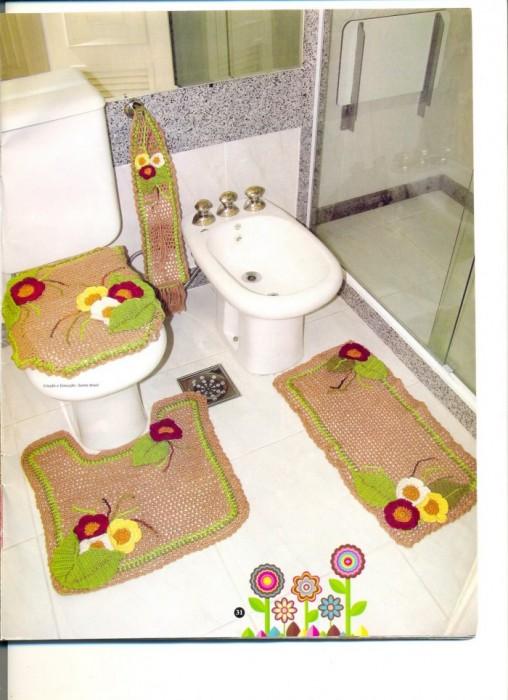 Коврик для туалета своими руками фото