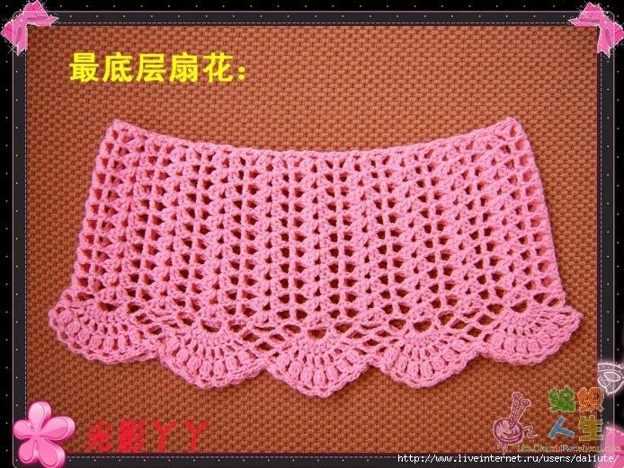 Мастер класс по вязанию крючком юбки для девочек