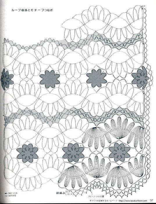 Схема вязания палантина крючком беслатно Ноябрь 6, 2012.