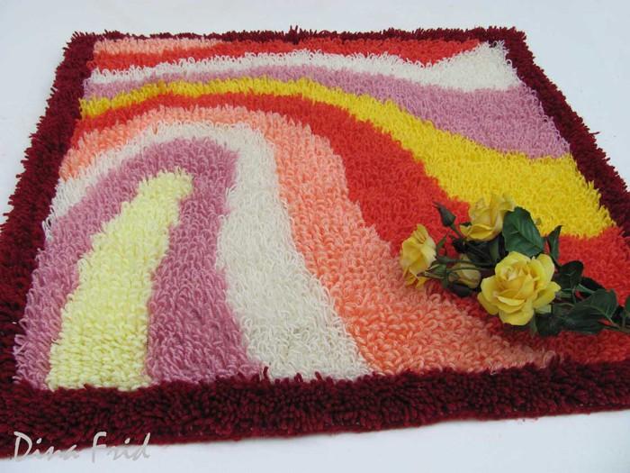Вязание плетение ковриков ковров - Master class.