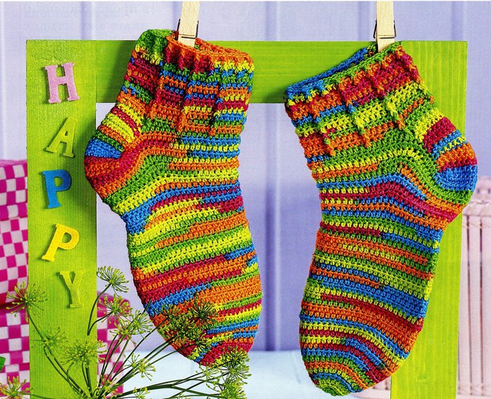 Вязание спицами носки детские видеоурок