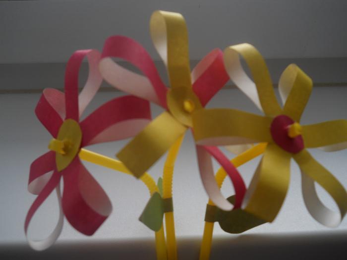 Цветы на палочке поделка