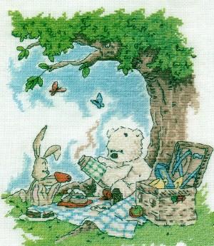свой цитатник или сообщество!  Белый мишка Likcle (серия TomPoli) 6 часть. вышивка крестом.