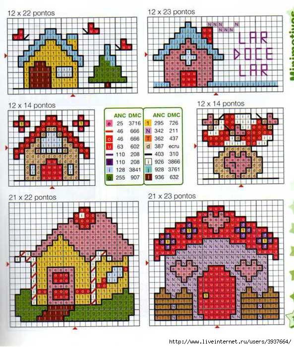 Вышивка крестом дом для детей