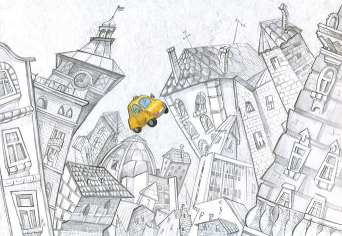 рисунок в карандаше города орла