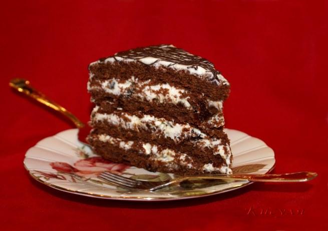Шоколадный торт рецепт со сметаной
