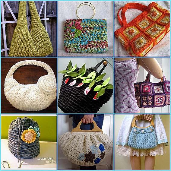 вязаные сумки : Вязание на