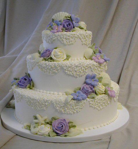 Свадебный торт с мастики