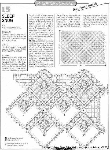Вязание в стиле пэчворк описание 336