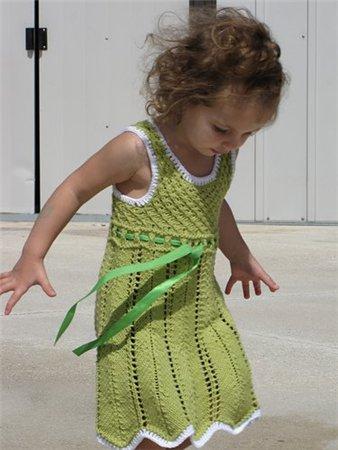 детский сарафан крючком схема.