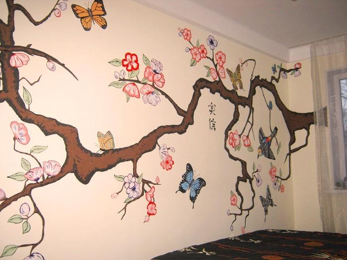 Что нарисовать на стене своими руками