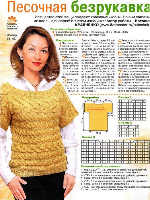Как вязание безрукавки спицами 62