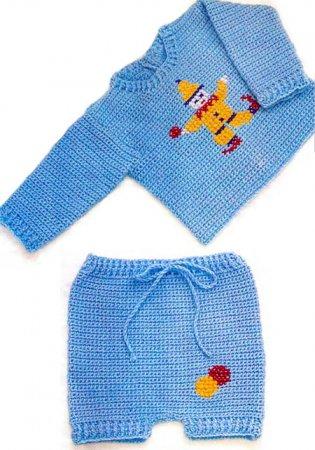 Схемы вязания детских костюмчиков.