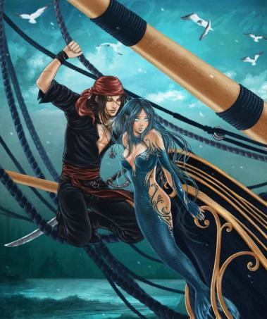 свой цитатник или сообщество!  Любимые герои славянской мифологии - тритоны и русалки.  Рисунки фэнтази.