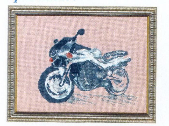 """Часть 2. Вышивка """"Мотоцикл&quot.   """"Часть 1. Часть 15."""