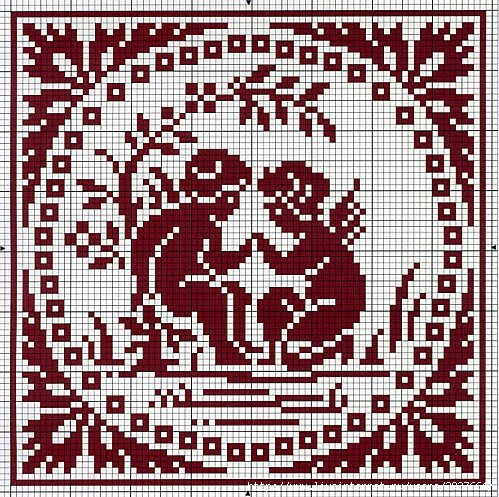 Эти схемы взяты из интернета из статьи Ирины Ткач.  Предлагаю вам схемы для вышивания крестиком прелестных ангелочков...
