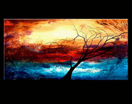 Картины написаны акриловыми красками