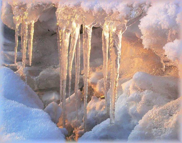 ручьи в снегу фото