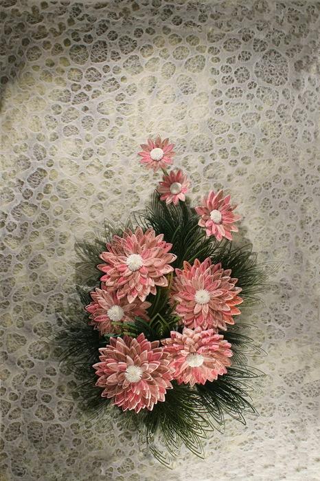 класс Сумочка с квиллинг цветами.