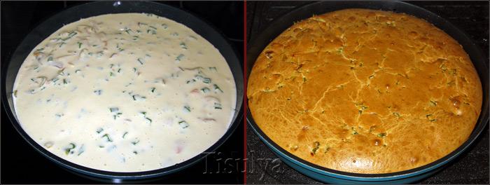 Заливной пирог с картошкой на сметане рецепт с