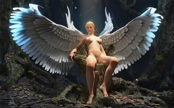 фото голых ангелов