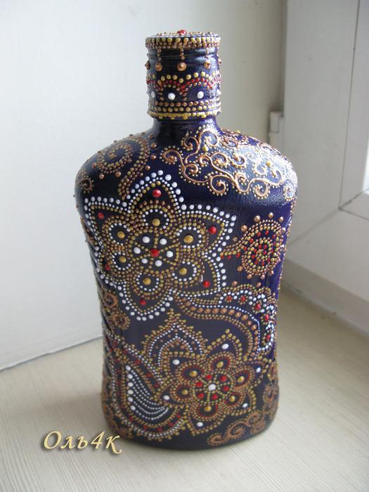 Рисунок для точечной росписи по бутылкам