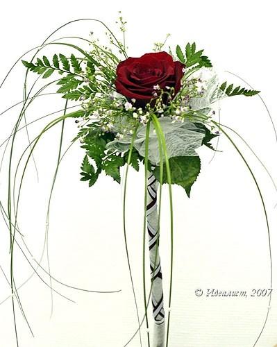 Как красиво оформить одну розу в подарок 60
