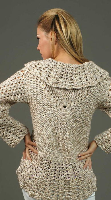Baby Pullover Sweater Crochet Pattern from Caron Yarn | FaveCrafts.com