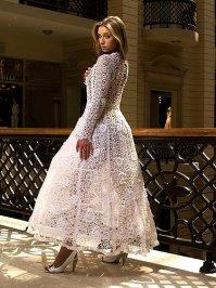 Фотографии: вязанные свадебные платья.