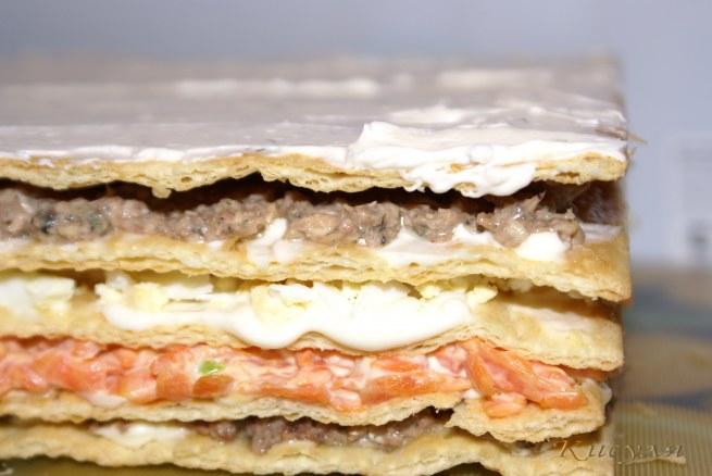 Рецепт закусочный мясной торт