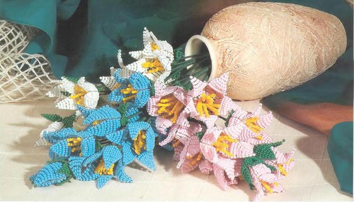 Цветы колокольчики из бисера