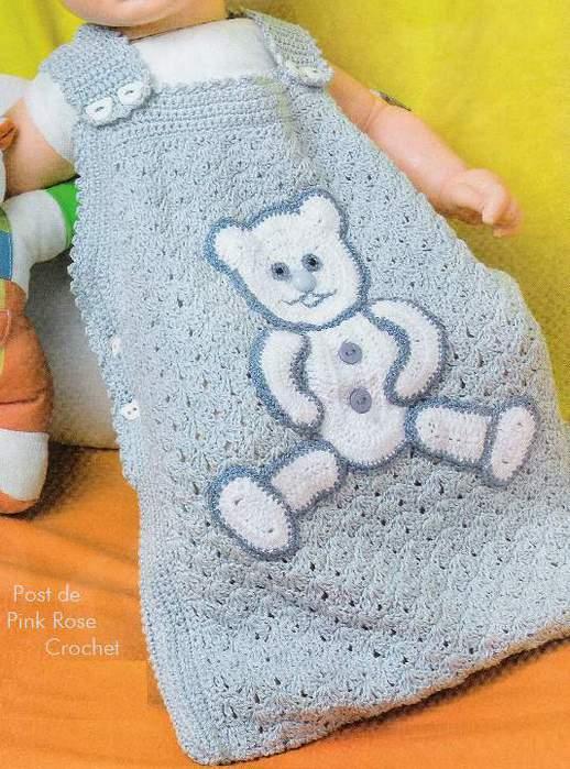 Вязаный спальный мешок для новорожденных