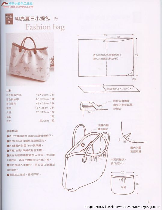 Как сшить сумку выкройки мастер класс