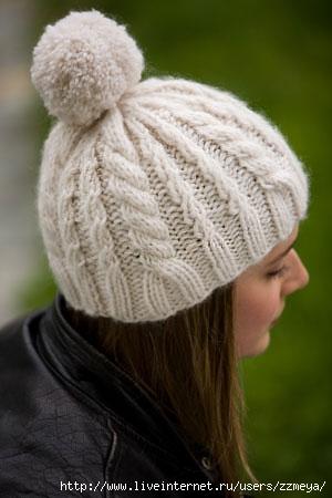 молодежные вязанные шапки