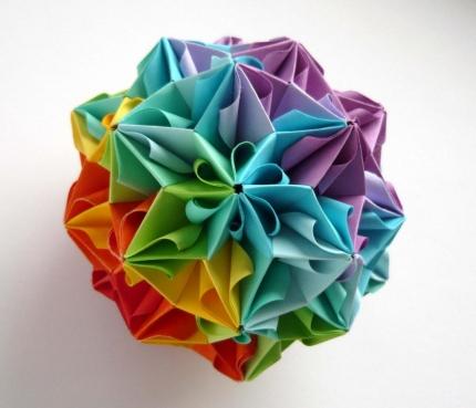 """Бумажные изделия Кусудама  """"Муравьиный лев """" (Оригами).  Вещи ручной работы, всё о рукоделии."""
