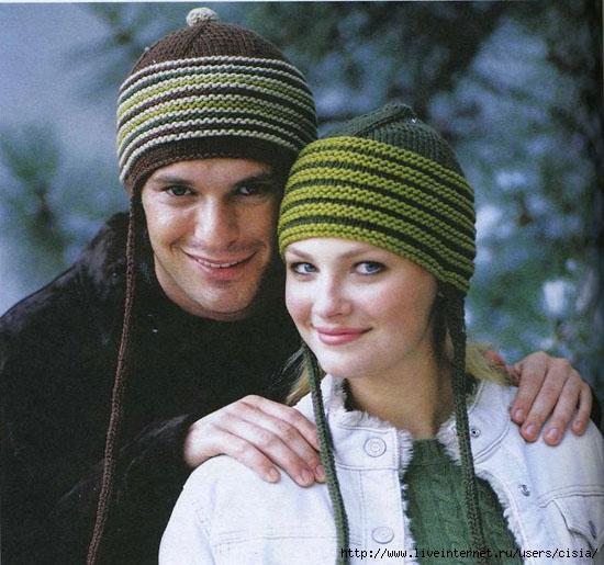 Описание: Оригинальные шапочки спицами Вязаная.