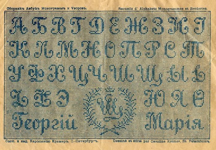 Современная вышивка крестом алфавит