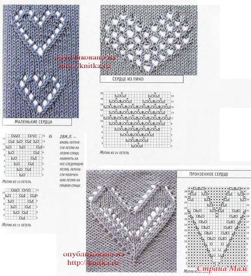 Фото из рубрик: Образцы и схемы вязания спицами , Каталог вязаных...