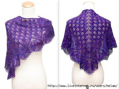 Шаль Харуни (Бабушка) / Haruni shawl с переводом.  Харуни - неимоверно популярная треугольная шаль.