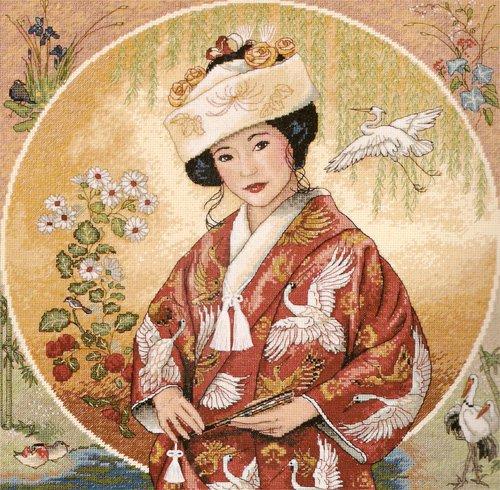 "Артикул: RY-2412-14 Размер: 47х47 см. Цена: 780.0 р. счетный крест Набор для вышивания  ""Японская девушка ""..."