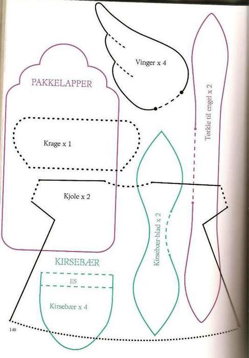 Выкройки игрушек, кукол и вещей из книги Tildas Atelier. Выкройки Тильд