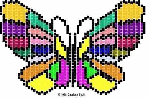 радужная бабочка.
