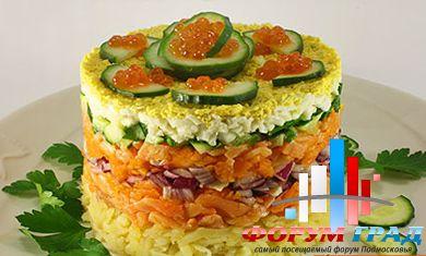 украшение салатов в домашних условиях.