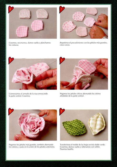 выкройка розы из ткани - Выкройки одежды для детей и взрослых.