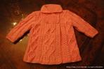 Вязанные пальтишки для девочек 3