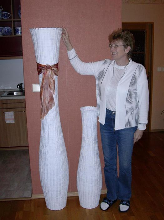 Как сделать напольную вазу своими руками из