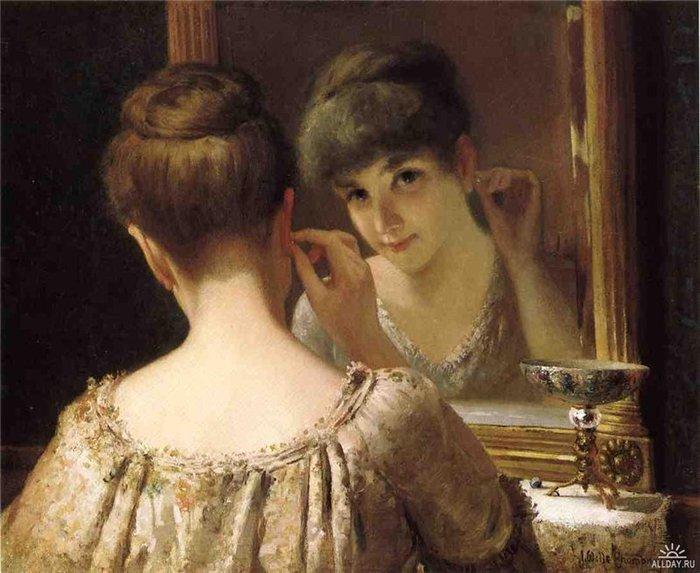 Фото русской женщины перед зеркалом фото 549-104